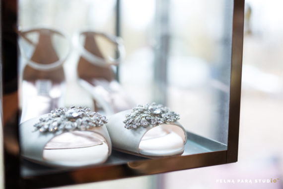 Wedding shoes in Ksis showroom